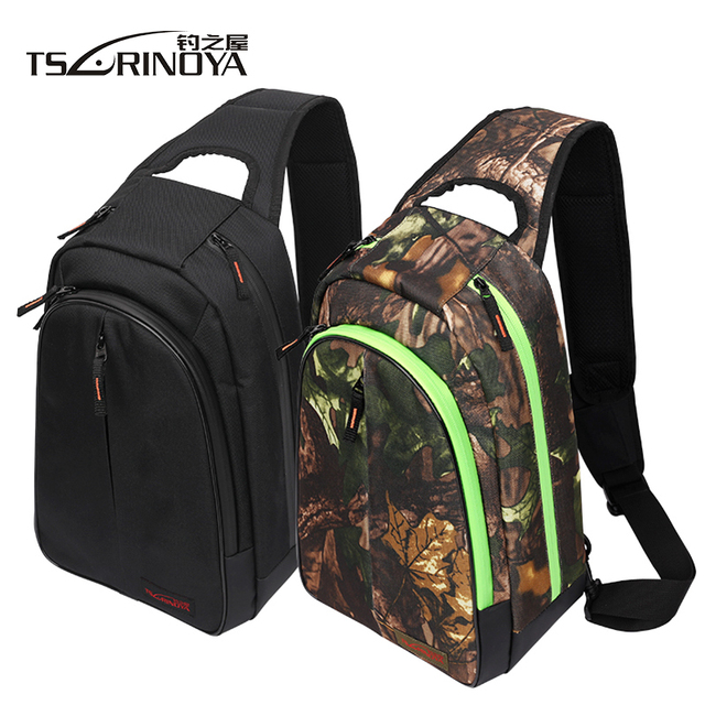 Best Offers TSURINOYA Multifunctional Fishing Bag 37*14*26cm Waterproof Large Capacity Fishing Tackle Bag Backpack Outdoor Shoulder Bag