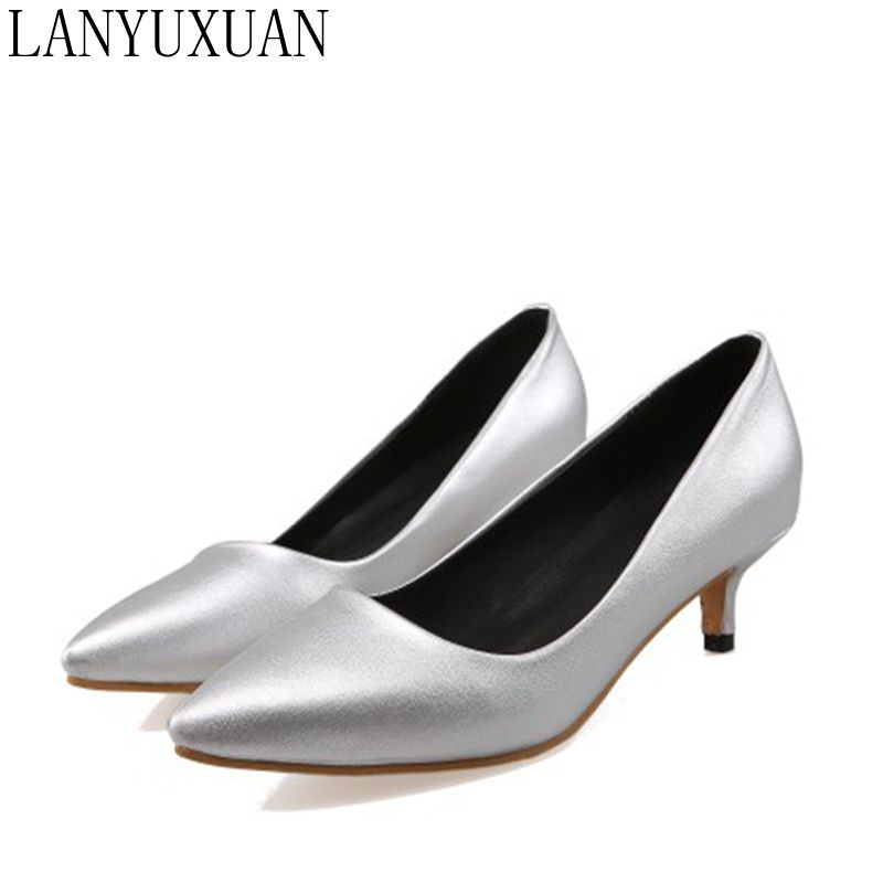 Big Size 34-47 Shoes Woman 2017 New Arrival Wedding Ladies Low Heel Shoes Fashion Sweet Dress Pointed Toe Women Pumps T330 plus big size 34 47 shoes woman 2017 new arrival wedding ladies high heel fashion sweet dress pointed toe women pumps a 3