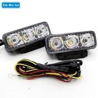 Universal 2Pcs Set LED DRL Daytime Running Lights External Steering Brake Lamps Car Styling Waterproof White