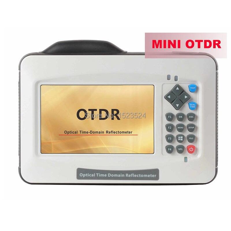 Nueva D35 35/33db SM 1310/1550nm mini otdr tiempo óptico reflectómetro de dominio Fibra óptica otdr con Touch pantalla