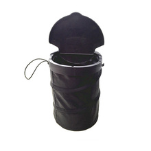все цены на Car Trash Bin Cans Folding Garbage Dust Holder Rubbish Cases Car Organizer Storage Bag Seat Waste Auto Interior Rubbish Barrel онлайн