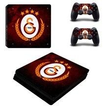 Galatasaray 1905 축구 팀 PS4 슬림 스킨 스티커 소니 플레이 스테이션 4 콘솔 및 컨트롤러 데칼 PS4 슬림 스티커 비닐