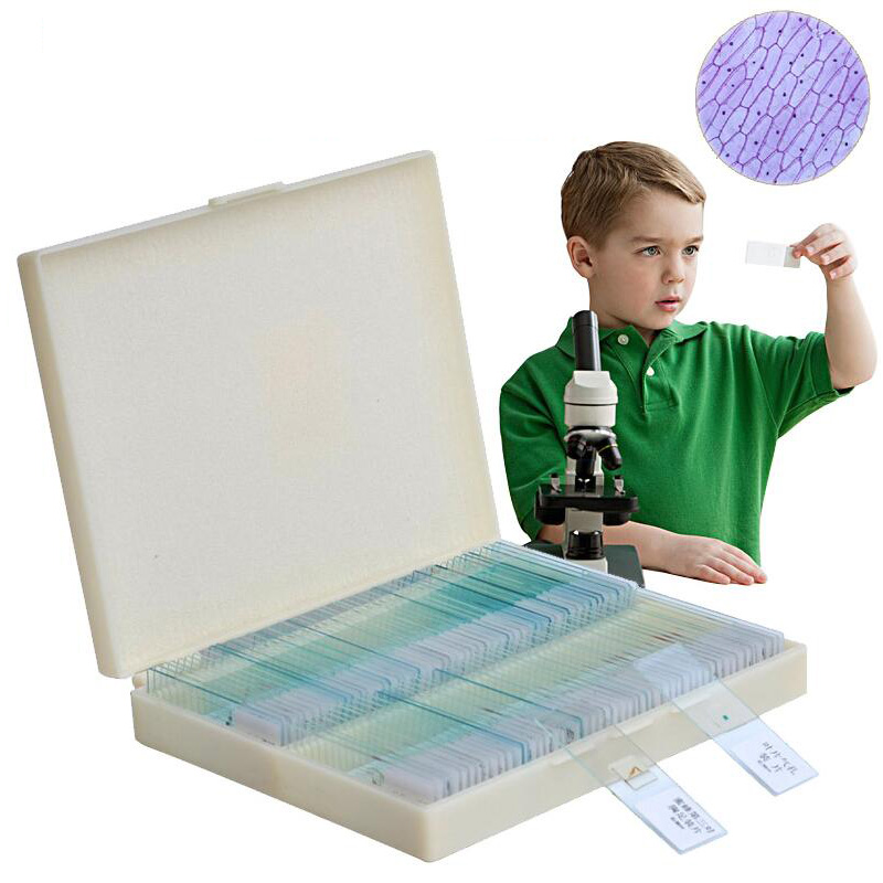 100pcs microscope slice specimen animal plant cell tissue specimen slide experiment child safety specimen slice