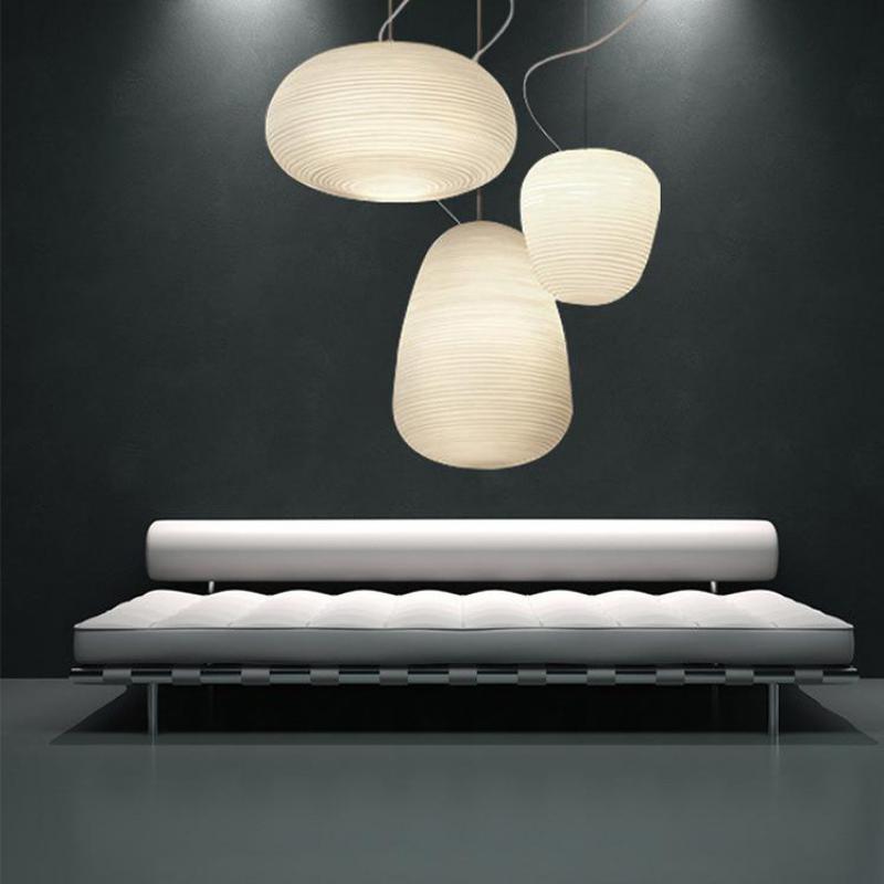 Nordic Creative Foscarini RITUALS White Glass Led E27 Pendant Light For Dining Room Living Room Bar Restaurant Ac 80-265v 1139