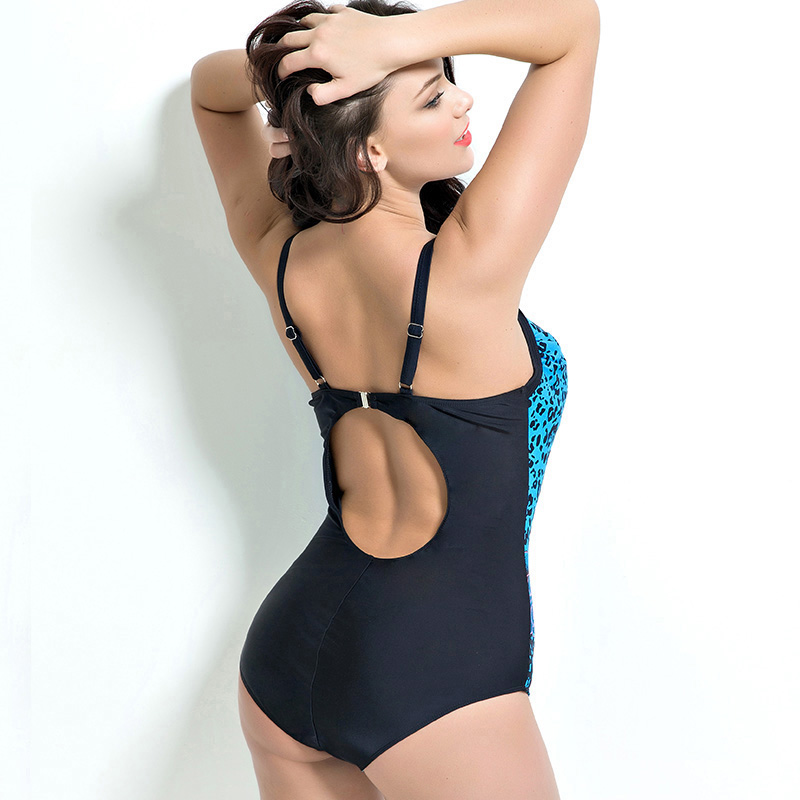 New Sexy Plus Size Monokini Floral Print Swimsuit Women Backless Bathing Suit 48 56 Strappy Swimwear Push Up One Piece Suit in Body Suits from Sports Entertainment