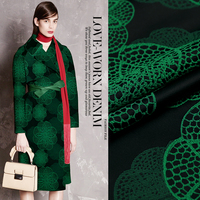 145cm Width 330g M Autumn And Winter Fashion Jacquard Fabric Trench Outerwear Suit Cloth Free Shipping
