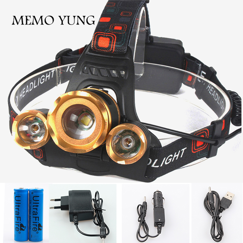 10000 Lumen XM-L T6 LED Rechargeable Zoom Headlamp Headlight Head Torch Lamp WT