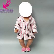 Doll coat for 40cm 43cm doll winter Bathrobe 18 inch girls doll winter wear doll clothes children gift(China)