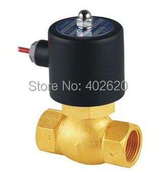 3/4'' High Quality Steam Solenoid Valves PTFE Model US-20 In Stock 2L170-20 DN20 High temperature solenoid valve 1 2bspt 2position 2way nc hi temp brass steam solenoid valve ptfe pilot