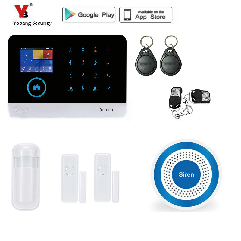 Yobang Security Wireless Home Security WIFI GPRS 3G Alarm System APP Control Network Camera Mini Door