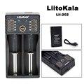 Liitokala lii-202 18650 carregador 1.2 v 3.7 v 3.2 v 3.85 v aa/AAA 26650 10440 14500 16340 25500 bateria de lítio NiMH inteligente carregador