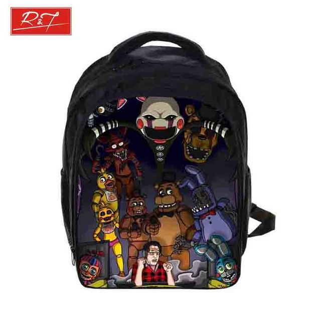 Kids Five Nights At Freddys Backpacks Anime Sonic Backpack Boys Girls School Bags Children Book Bag Daily Backpack Best Gift Bag