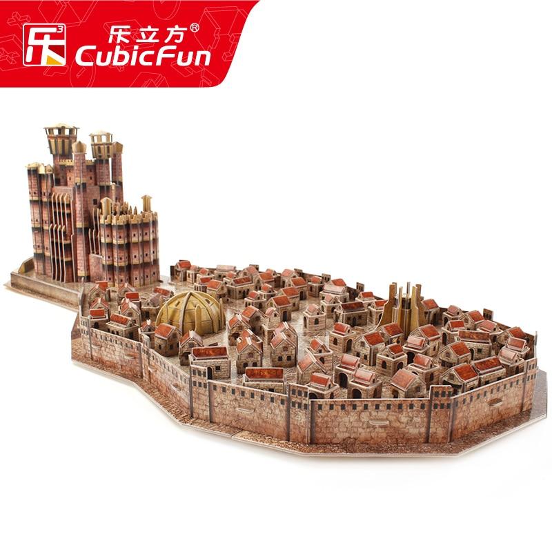 CubicFun 3D puzzle en papier modèle de construction assembler main travail jeu jouet roi de débarquement Architecture célèbre château construire Place 1 pc