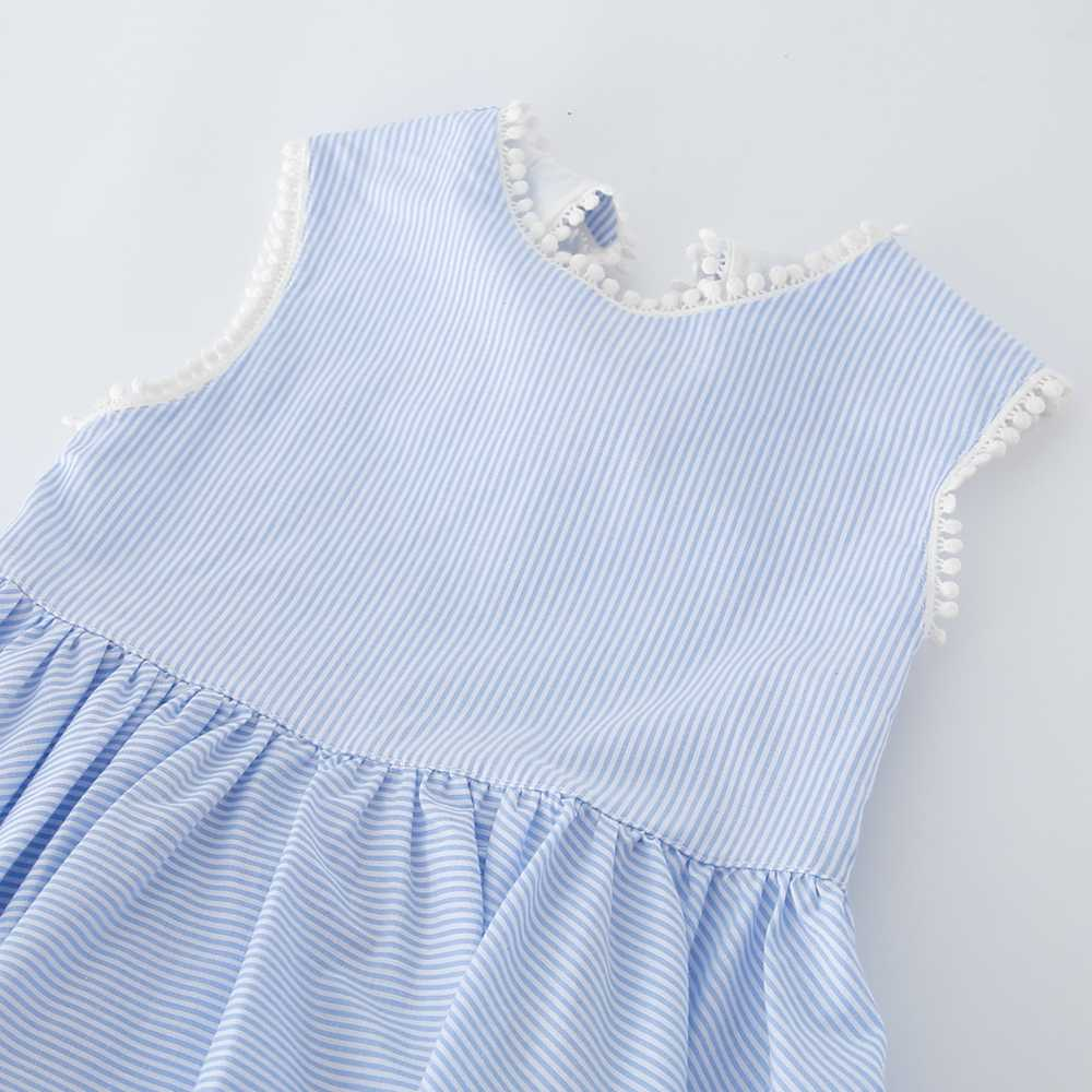 2a2ea853933 ... Shijun Kids Frock Designs 2019 Summer Striped Blue Cotton Backless Girl  dress