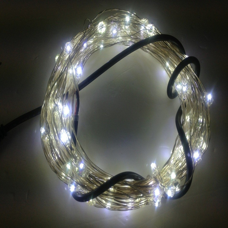 10m LED String Lights New Year Christmas tree Garland Pendant Copper Curtain Lights Chandelier Holiday Wedding Luminaria decor 10m battery operated fairy lights led string garland curtain lamp for wedding indoor holiday lighting christmas tree luminaria
