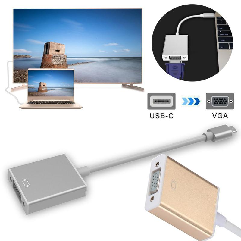 BCMaster USB 3.1 Type C USB-C to VGA Female Cable Adapter For Tablet PC
