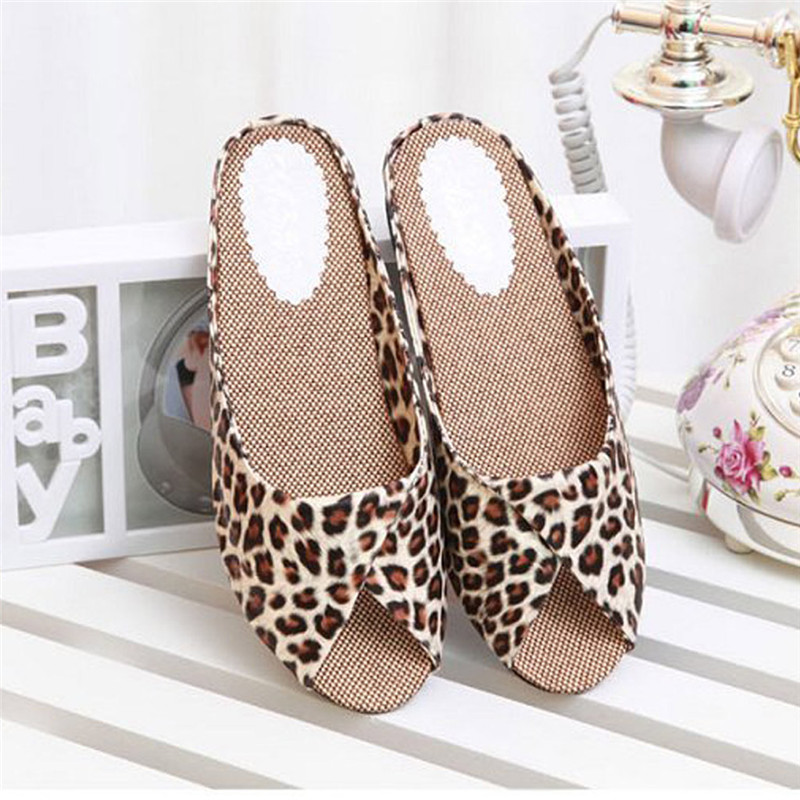 Classic Sandals Shoes Women Leopard-Print Plus-Size Peep-Toe Flat Heel Sexy New -40