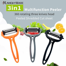 1 PCS Multifunctional 360 Degree Rotary Potato Vegetable Peeler Cutter Melon Planer Grater Kitchen Gadget Random Color