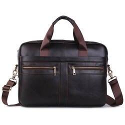Марка Натуральная кожа Сумка Для мужчин сумки мужской кожа Сумка через плечо ручки пакета 15' Портфели портфель
