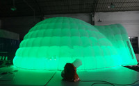 Party wedding use LED igloo inflatable tent for outdoor and indoor