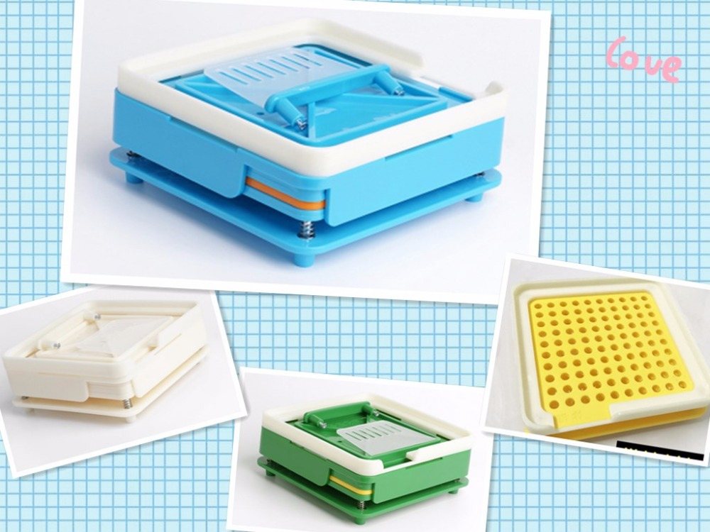 0# S-100 holes 6-piece set ABS capsule filling board/capsule filling device/Manual Capsule filling machine, manual encapsulator unipump jet 100 l