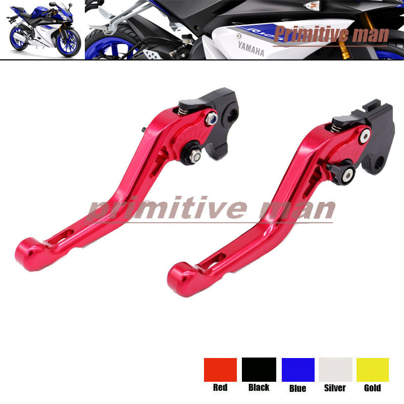 ФОТО Motorcycle Accessories Short Brake Clutch Levers For YAMAHA YZF R125 2008-2011 Red