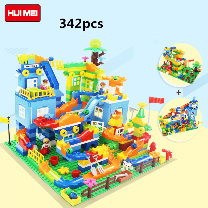 HM616 617 large particles Building Blocks Race game without box Compatible With Legoe Duploo Toys toys for children