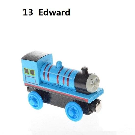 Деревянные магнитные паровозики, игрушки для железной дороги, деревянные паровозики для детей, подарок для детей, модель поезда - Цвет: Темный хаки