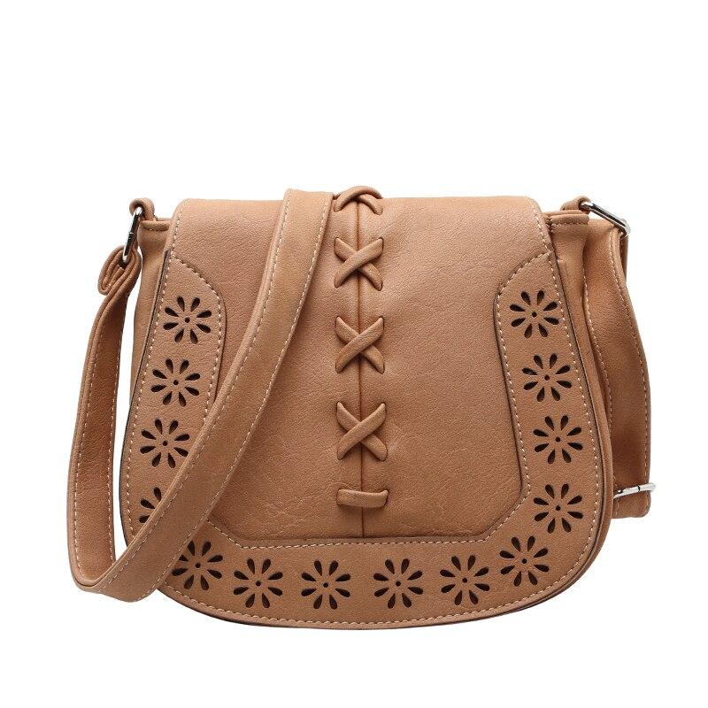 Small Casual women messenger bags PU hollow out crossbody bags ladies shoulder purse and handbags bolsas