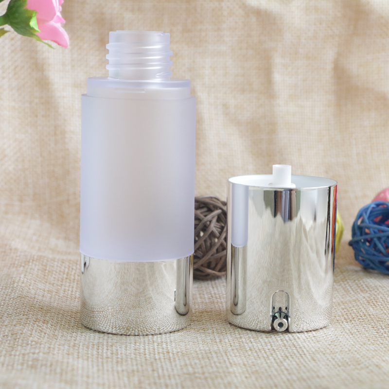 Купить с кэшбэком Airless 15ml 30ml 50ml Empty Vacuum Pump Toilet Vessel Cosmetic Frosted Bottle Mini Transparent Lotion Makeup Container 10pcs