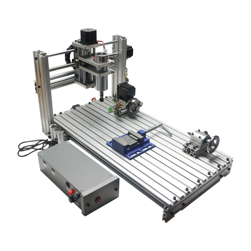 YOO CNC 400 W 5 axes bois routeur bricolage CNC 6020 machine de découpe avec pinces de coupe kits de forage de pince