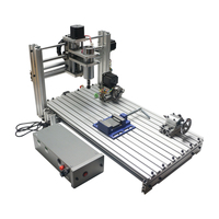 YOOCNC 400W 5axis wood router DIY cnc 6020 cutting machine with cutter clamps collet drilling kits