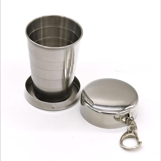 Stainless steel telescopic cup Portable folding cup Wine glass Portable folding cup (small) 75ml