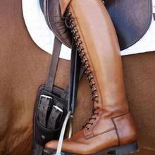 SunNY Everest/женские сапоги рыцарские сапоги Зимняя обувь сапоги для верховой езды на квадратном каблуке мягкие Нескользящие Замшевые Сапоги выше колена, Размеры 35-43