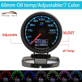 HB 60mm 7 Color in 1 Racing Gauge GReddi Multi D/A LCD Digital Display Oil Temp Gauge Car Gauge 2.5 Inch