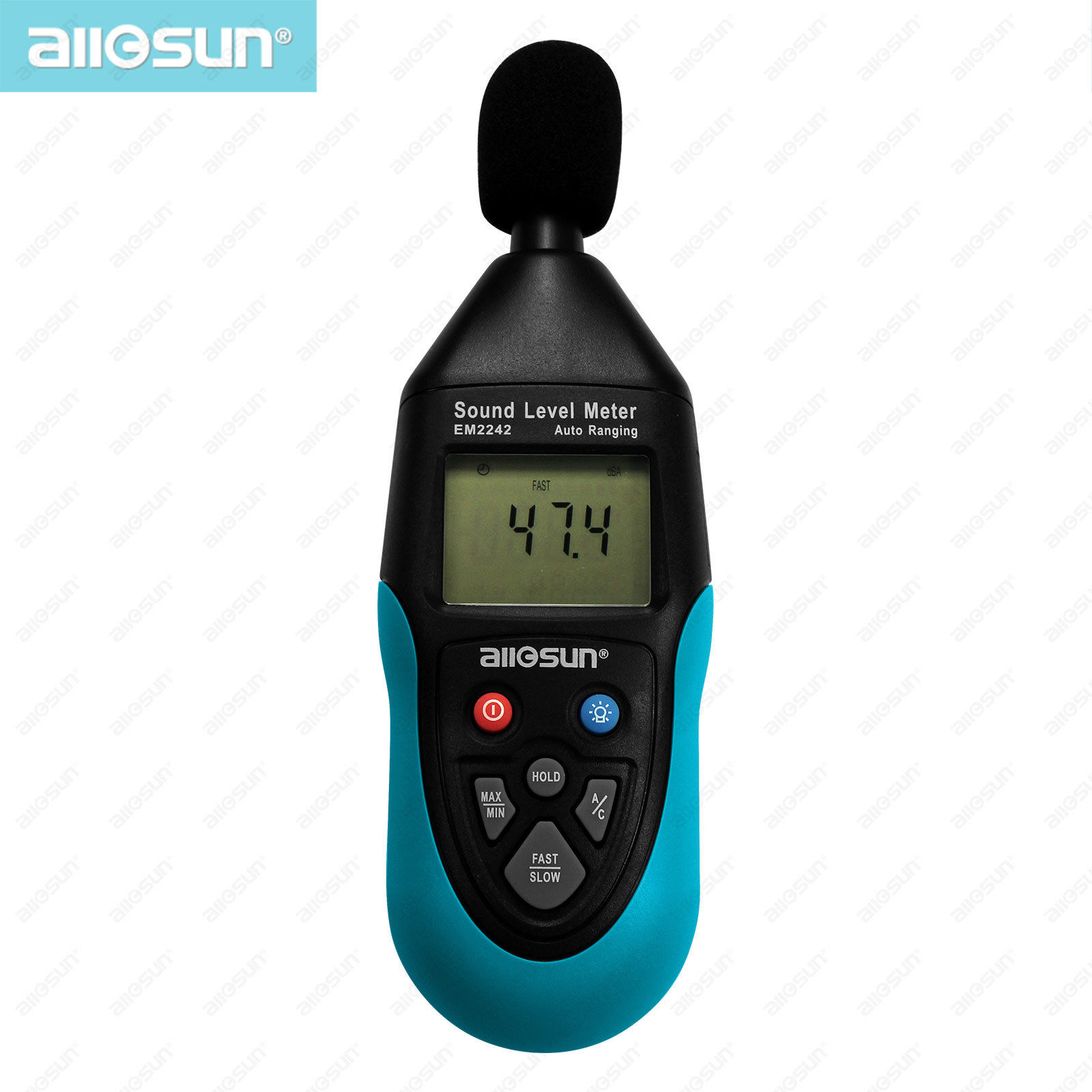 all-sun EM2242 Professional Digital Sound Level Meter Tester 31.5Hz~8KHz 30-130 dBA 35-130 dBC 4 Digits LCD