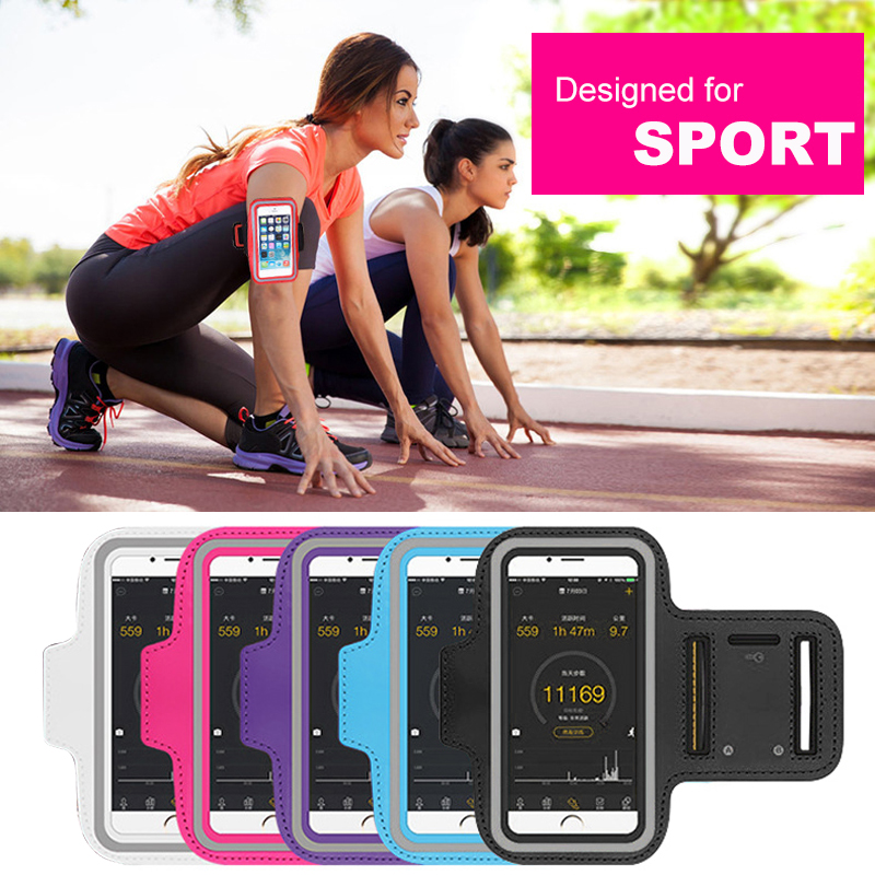 4,0-5,5 tommers Sport Armbåndveske til iPhone 8 7 6s 5s 5c xiaomi Veske for løping for Samsung Bag sport mobiltelefon holder klemme