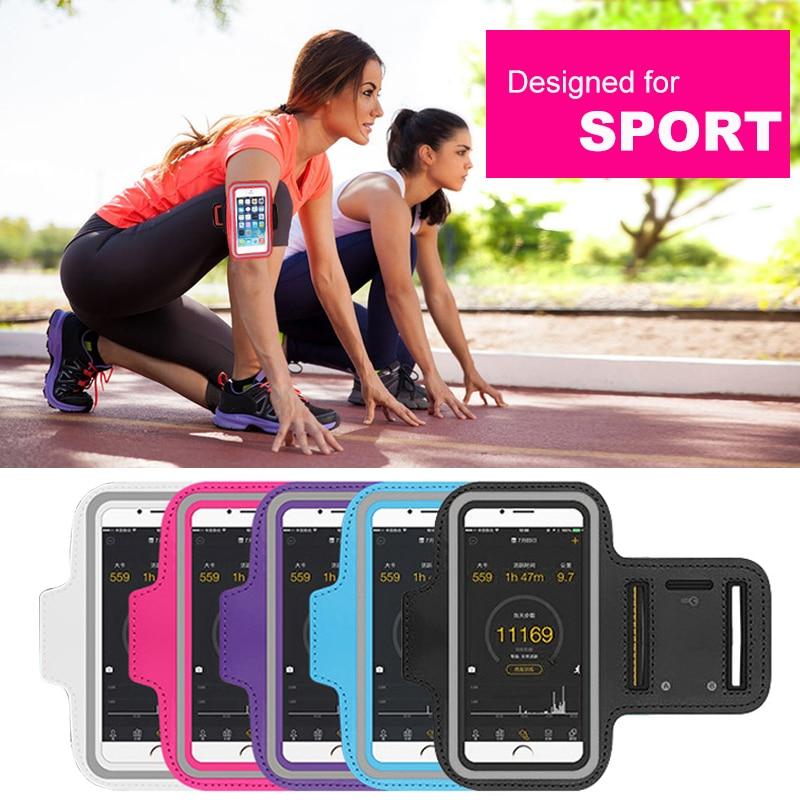 4,0-5,5 tum Sportarmbandväska för iPhone 8 7 6s 5s 5c xiaomi Väska för körning för Samsung Bag sport mobiltelefonhållare klämma