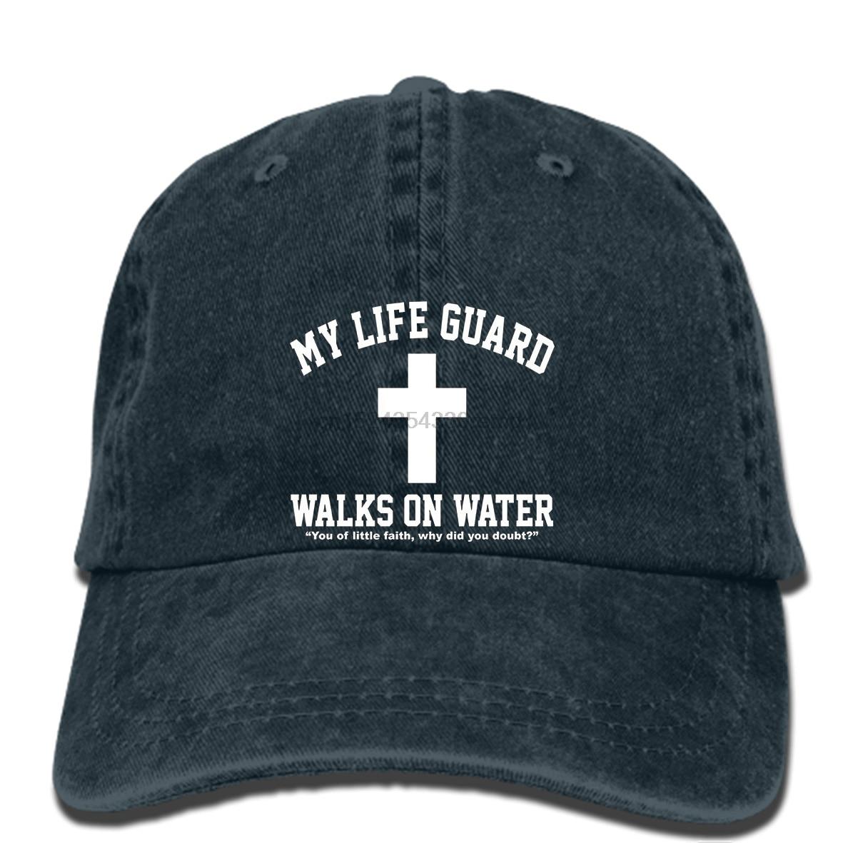 1a80d278b4c hip hop Baseball caps Loo Show Mens My Life Guard Walks On Water Jesus  Christian Black cap-in Baseball Caps from Apparel Accessories on  Aliexpress.com ...