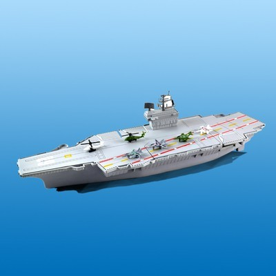 Children's toys Aircraft carriermodel ship model with four fighter 2 helicopter toys for children gift