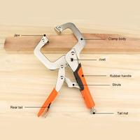 6/9/11/14/18 polegadas multi função grampos grampos de aço c tipo clip vise aperto de travamento alicates face clamp ferramentas manuais para trabalhar madeira ferramenta|Alicates|   -