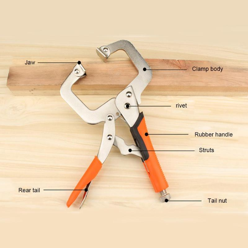Multi Function Steel C Type Clip Vise Grip Locking Plier Woodworking