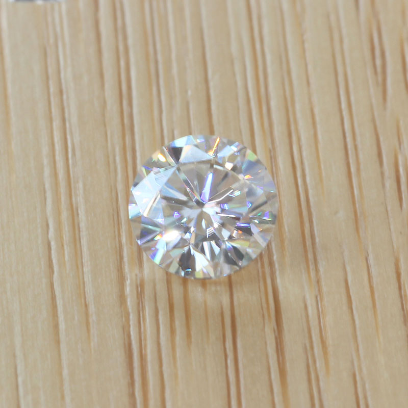 DovEggs 1 Piece 6.5mm GH Color Moissanite Loose Stone for Jewelry Making