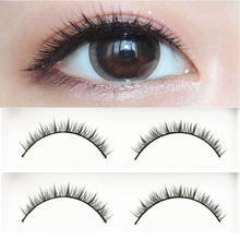 YOKPN Fashion Natural Short Eyelashes Nude Makeup Handmade Cross False Eyelashes Tapered Realistic Fake Eye Lashes 5 Pairs