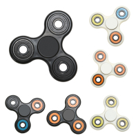 6 Kinds Of Color Tri Spinner Fidget Toy Plastic EDC Hand Spinner For Autism And ADHD