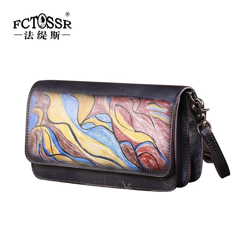Новая маленькая квадратная сумка в стиле ретро, простая мини сумка на плечо, женская сумка ручной работы из коровьей кожи, женская сумка с рисунком - 2