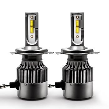 Автомобильные H4 LED H1 H7 H11 9005 9006 Hb3 Hb4 фары лампы 12 В 24 в 60 Вт 6500 к 8000LM CSP авто светодиодные лампы фары комплект
