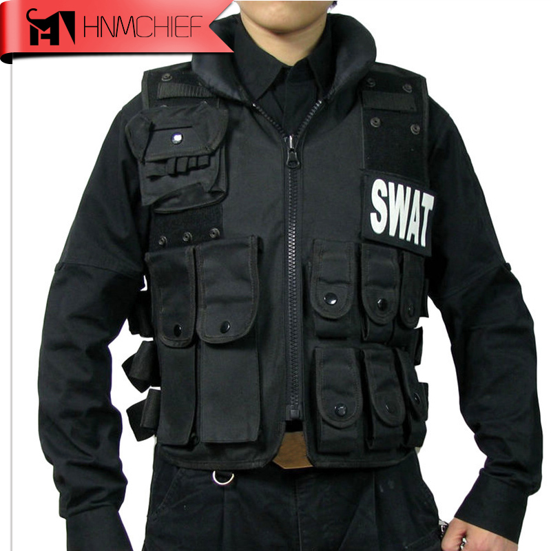 Military POLICE Law Enforcement Vest Tactical Vest SWAT Combat vest CS equipment-Black uniform tactical vest 027 vest field cs vest apron vest military protective equipment
