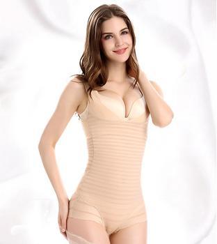 Seamless Full Body Shaperwear Ladies Nylon Body Shaper Slimming Shape Underwear Zebra stripe zebra underwear