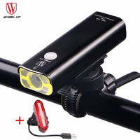 WHEEL UPWHeeL UP Cycling Led Usb Rechargeable Bike Front Handlebar Light With Battery Tail Light
